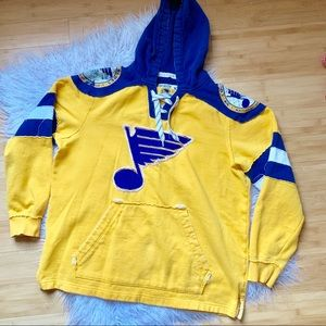 CCM St. Louis Blues Embroidered Distressed Hoodie